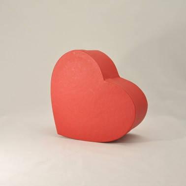 Коробка сердце 25*20*6см красная эфалин, фото 2