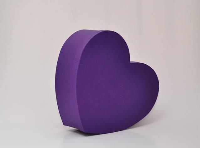 Коробка сердце 30*25*12см фиолетовая, фото 2