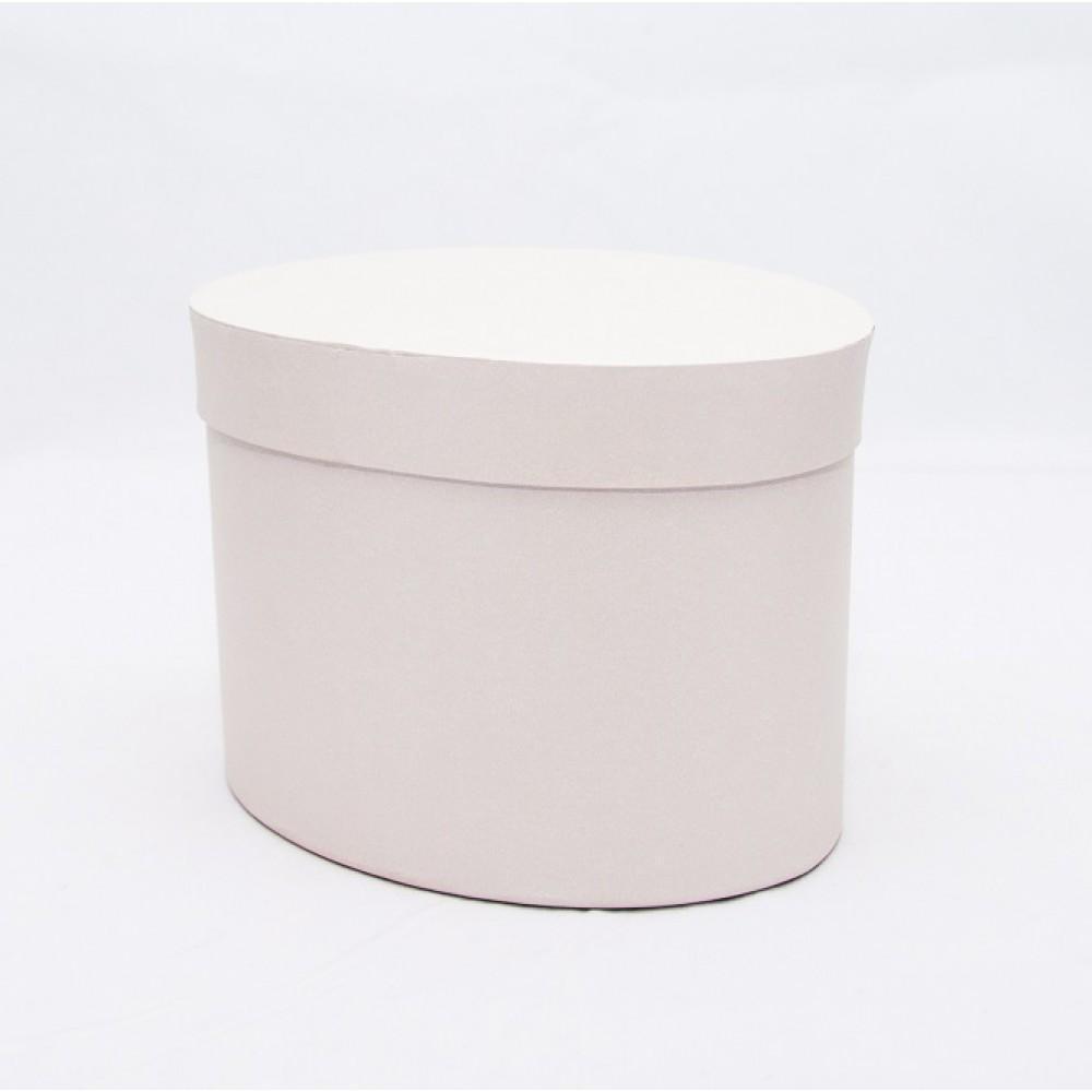 Овальная коробка с крышкой 17*13*13см айвори