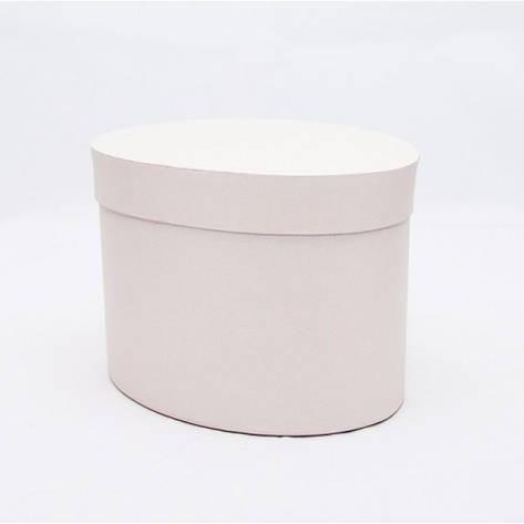 Овальная коробка с крышкой 17*13*13см айвори, фото 2