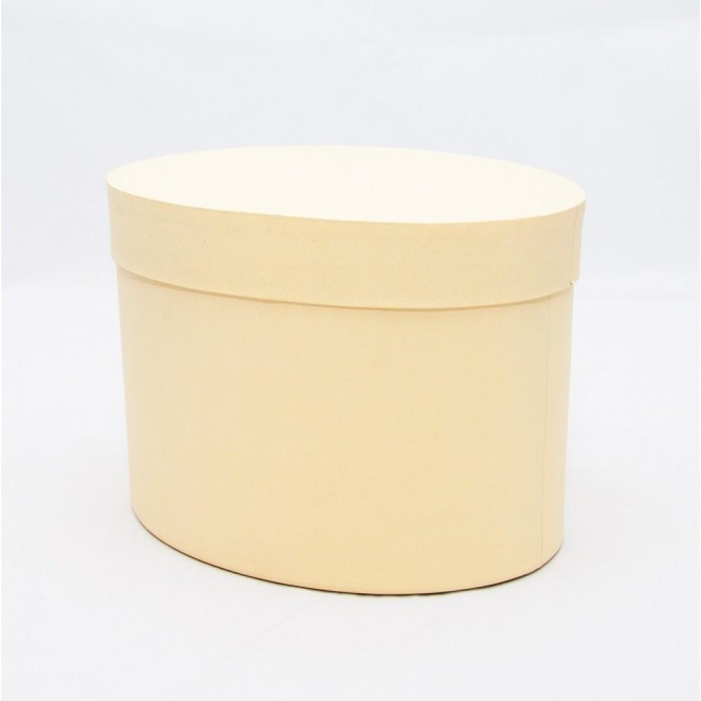 Овальная коробка с крышкой 17*13*13см светлое золото