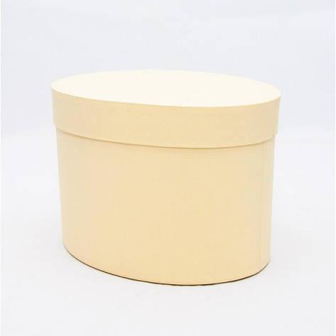 Овальная коробка с крышкой 17*13*13см светлое золото, фото 2