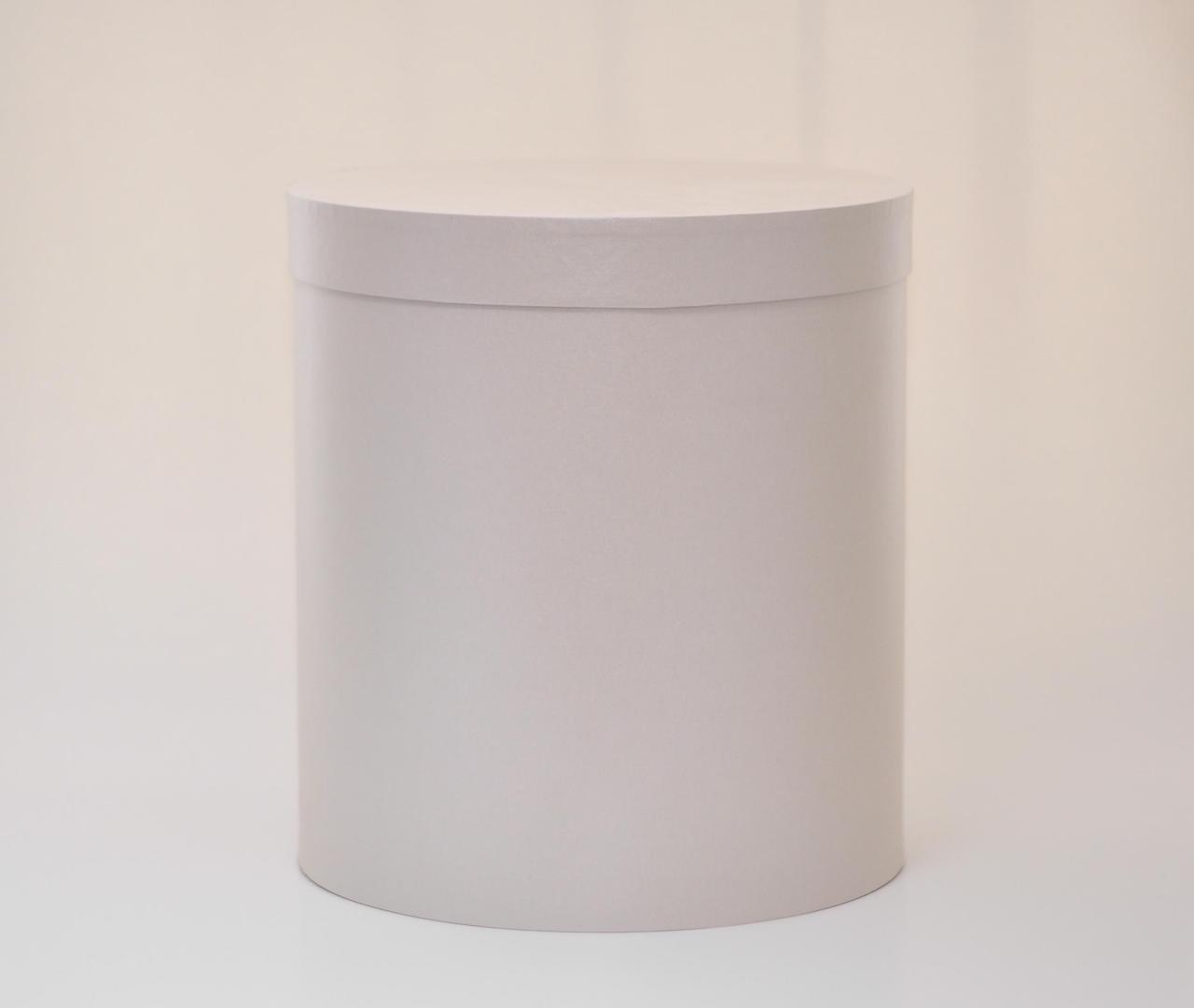 Круглая коробка с крышкой h20*d20см серый