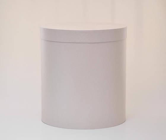 Круглая коробка с крышкой h20*d20см серый, фото 2