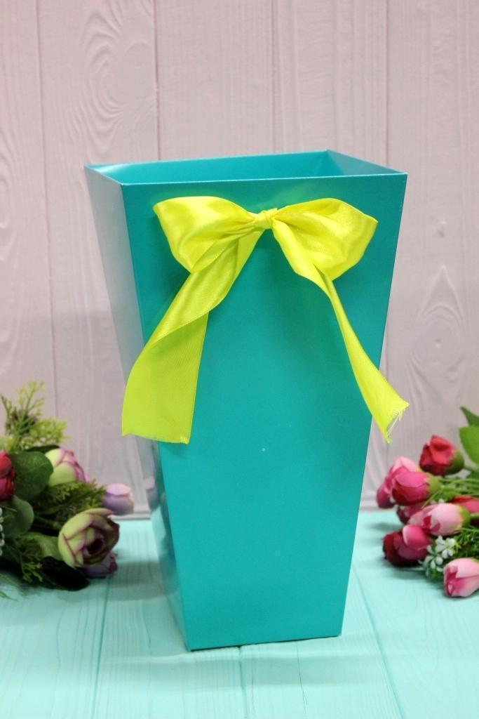 Коробка для цветов трапеция большая УП 9,5*15*26,5см 10шт/уп - Тиффани