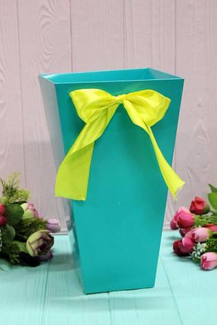 Коробка для цветов трапеция большая УП 9,5*15*26,5см 10шт/уп - Тиффани, фото 2