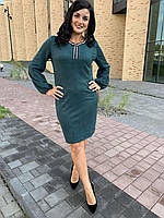 Стильное женское платье под замш