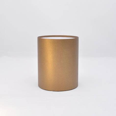 Круглая коробка без крышки h17*d15см лен бронза блеск, фото 2