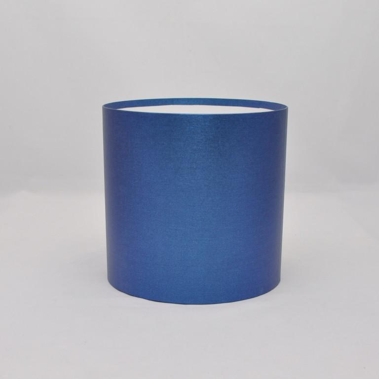 Круглая коробка без крышки h14*d11,8см синяя