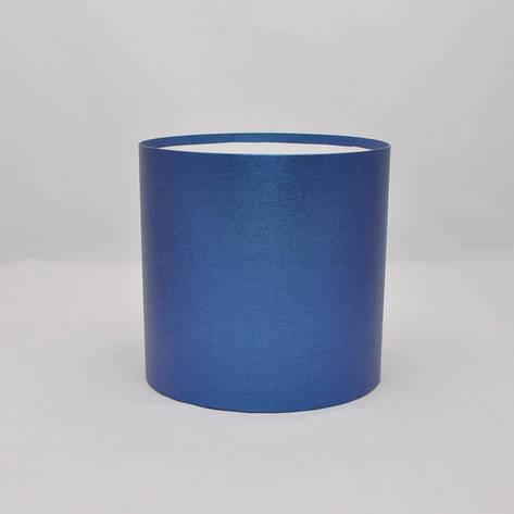Круглая коробка без крышки h14*d11,8см синяя, фото 2