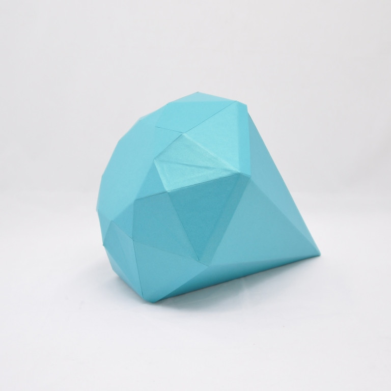 Коробка бриллиант 30*30*10см голубой