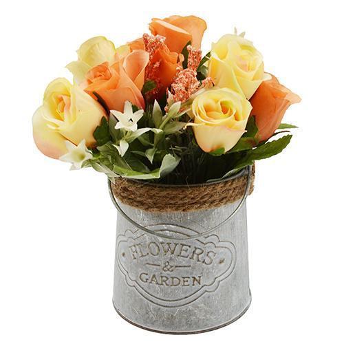 """Композиция из искусственных цветов """"Roses"""" 20*10см R87241"""