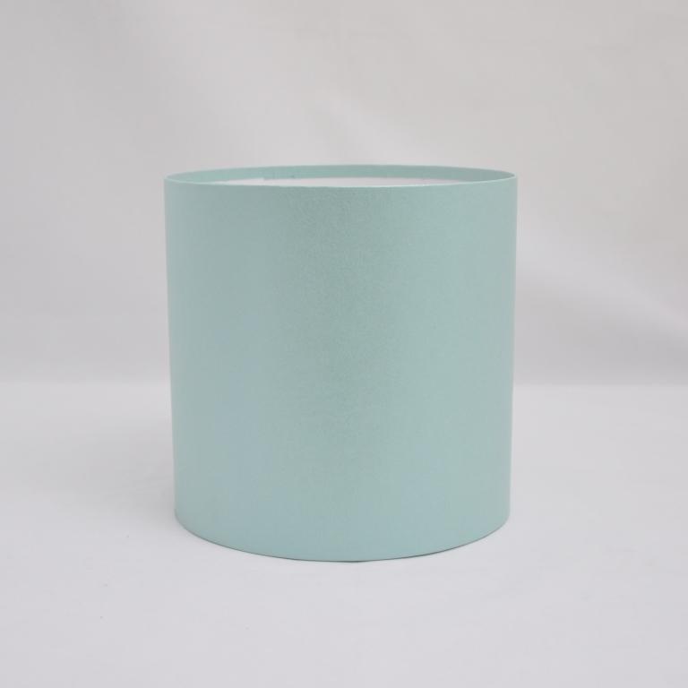 Круглая коробка без крышки h17*d15см бирюзовая