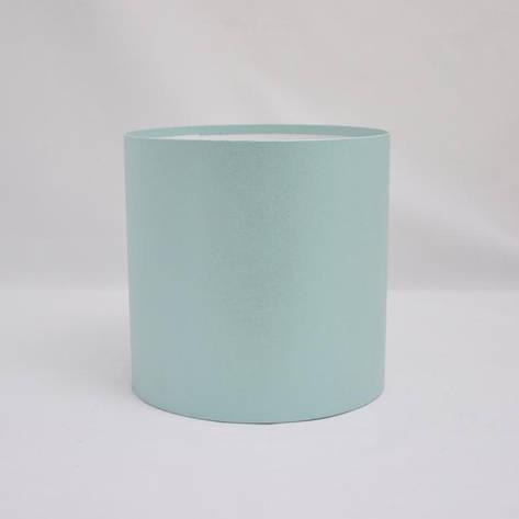 Круглая коробка без крышки h17*d15см бирюзовая, фото 2