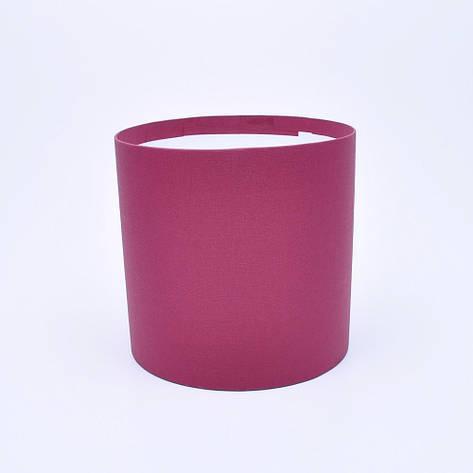 Круглая коробка без крышки h17*d15см ткань бордовая, фото 2