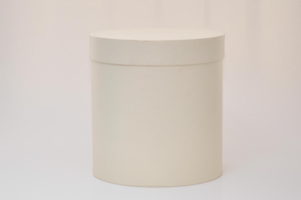 Круглая коробка с крышкой h15*d20см айвори