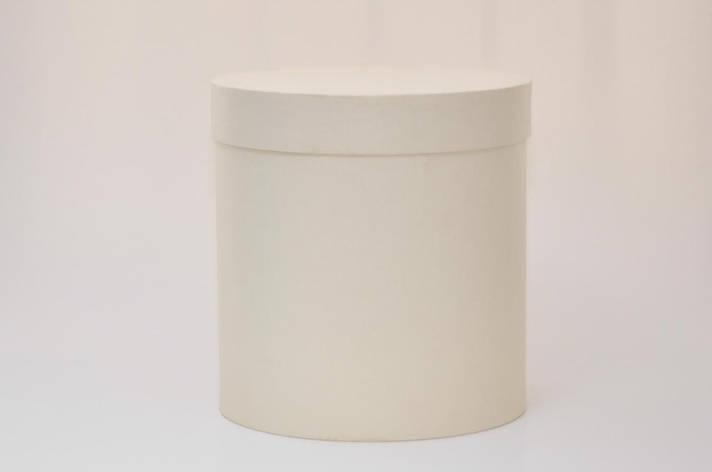 Круглая коробка с крышкой h15*d20см айвори, фото 2