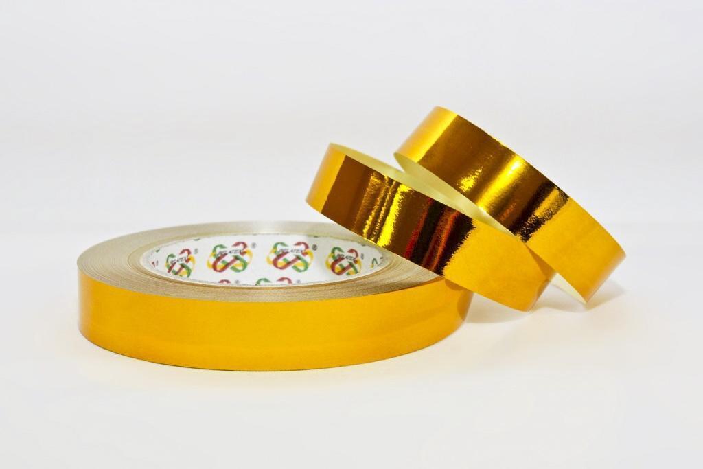 Лента для цетов и подарков Tonica 2/50 - Золотой металлик