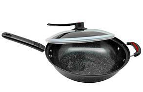 Сковорода, 32 см, вид-, сковорода WOK, посуда для индукционной плиты