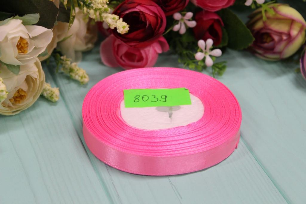 Атласная лента 25мм*25ярдов №8039 - Розовая