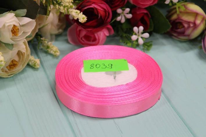 Атласная лента 12мм*25ярдов №8039 - Розовая, фото 2