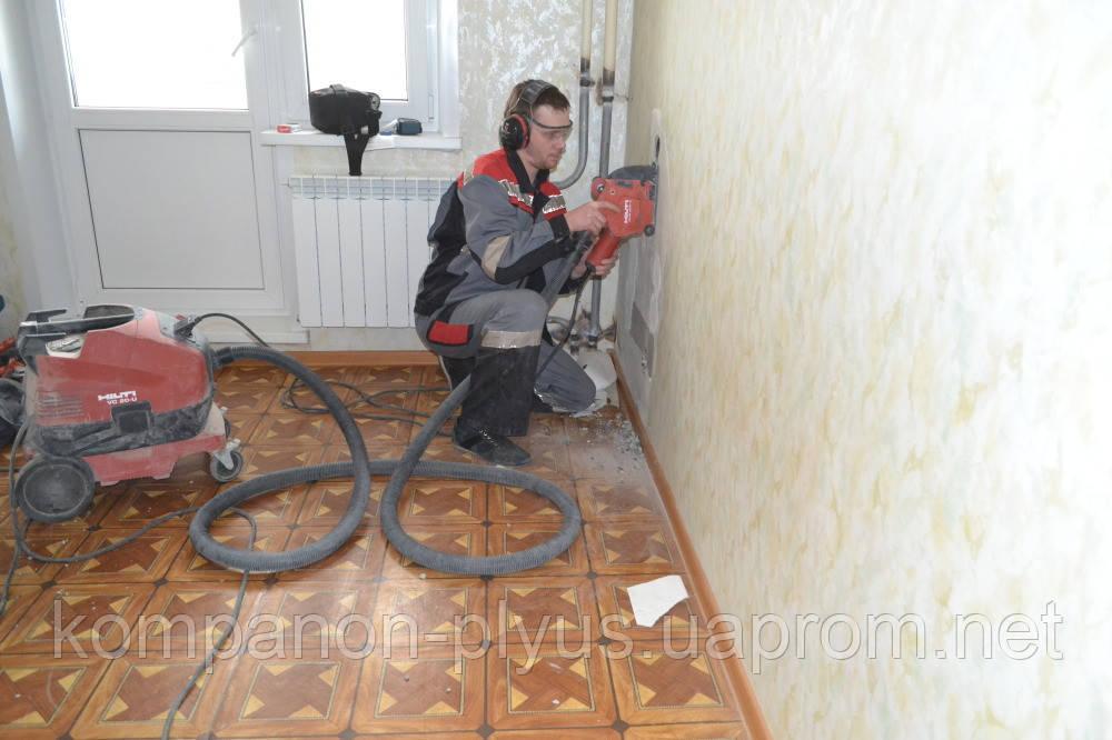 Штроблення стін під електропроводку