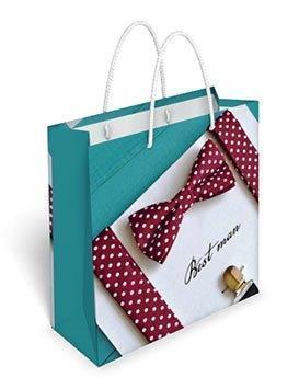 Бумажный подарочный пакет маленький квадрат 17.1*16.6*6.6см №35,071 СП