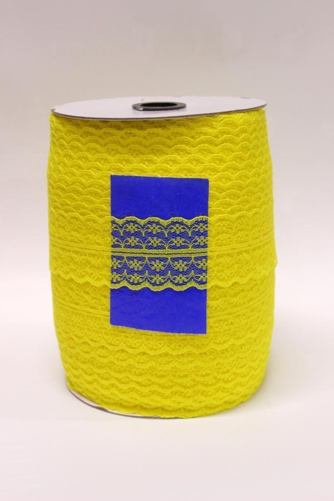 Кружево сетка отрывное 5см*300ярд - Лимон