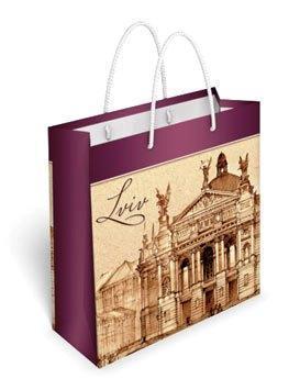 Бумажный подарочный пакет маленький квадрат 17.1*16.6*6.6см №35,067 СП