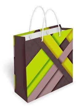 Бумажный подарочный пакет маленький квадрат 17.1*16.6*6.6см №35,040 СП, фото 2