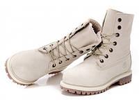 Ботинки Timberland зимние белые, искусственный мех