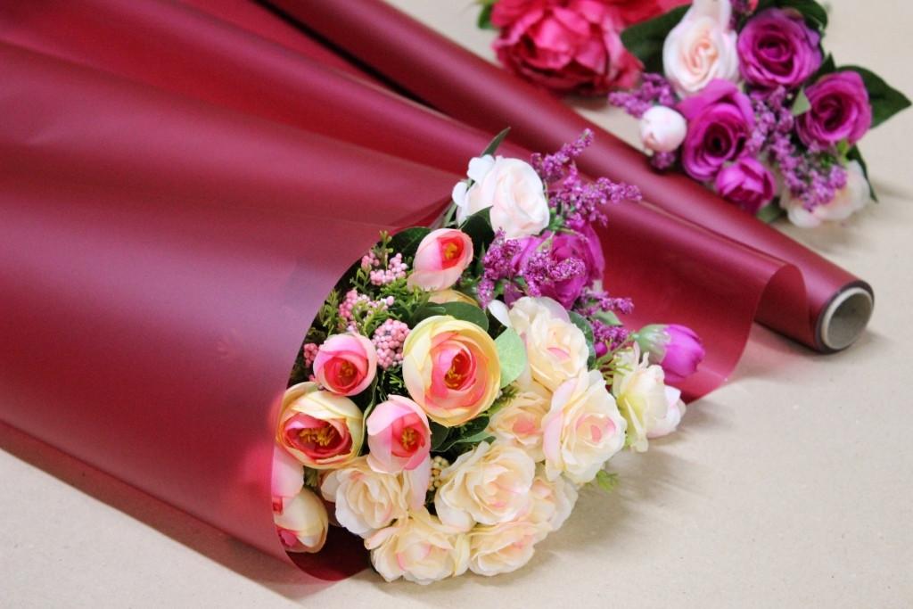 Калька для цветов - матовая флористическая пленка 70см*10м Марсал