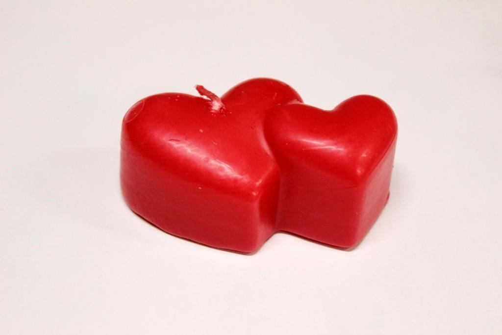 Декоративные свечи в день Святого Валентина 5шт/уп - Сердце двоих