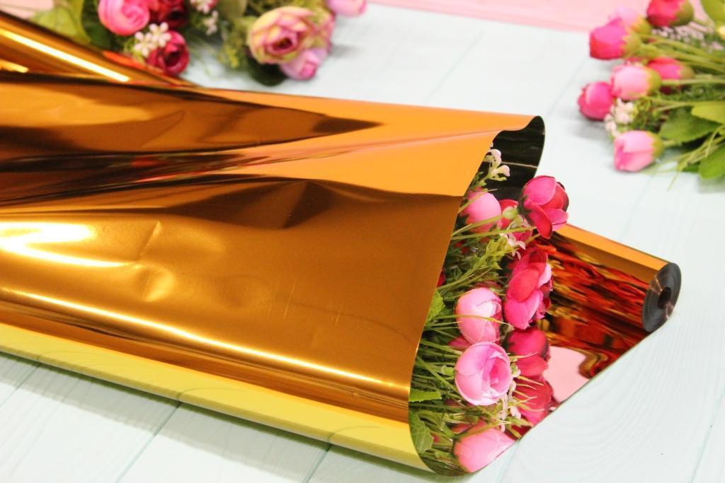 Металлизированная пленка для цветов 60см/0,5кг - Золото