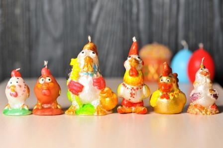 Декоративные пасхальные свечи 5шт/уп - Петух вышиванка