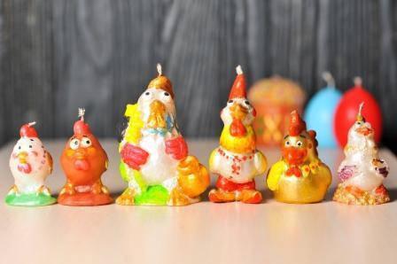 Декоративные пасхальные свечи 5шт/уп - Петух вышиванка, фото 2