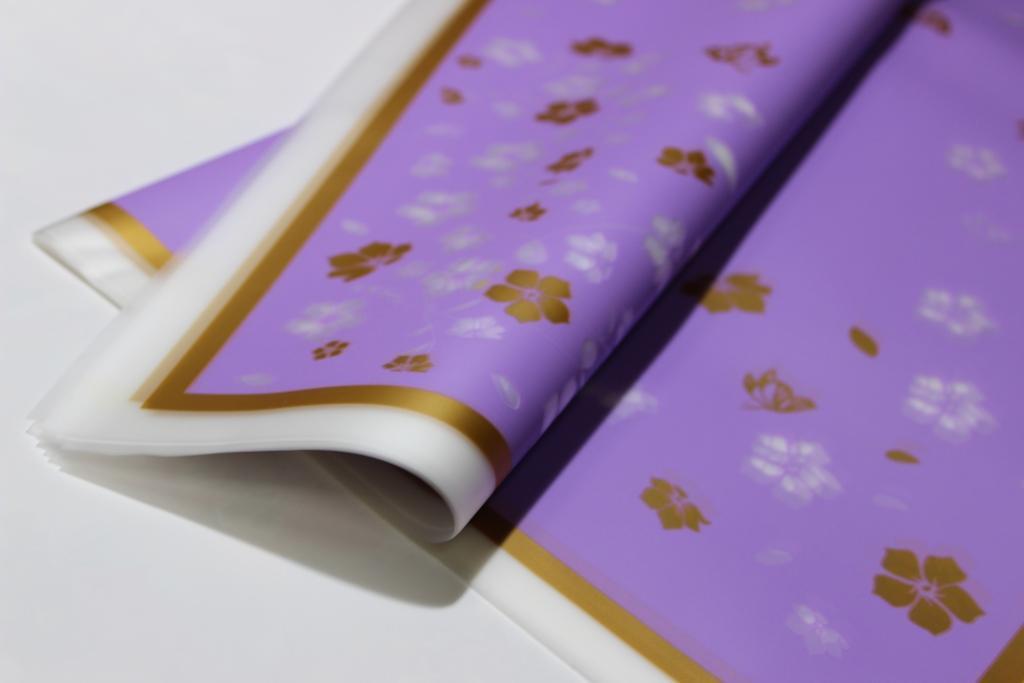 Калька для цветов с рисунком 60*60см 20л/уп, 17HK013 - Сиреневая