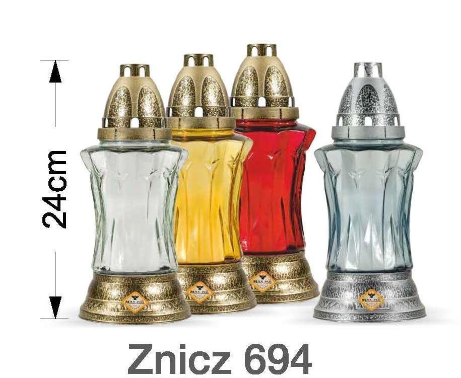 Лампада стеклянная MAX-POL 7шт/уп №ZNICZ-694 NZ ZL S/7