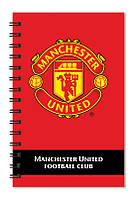 Блокнот с пластиковой обложкой на спирали Manchester Utd Kite, 80 листов, А5