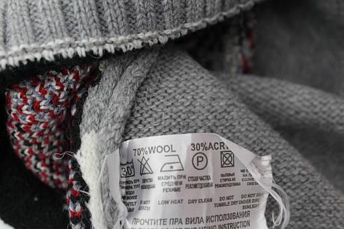 Вязаные женские шерстяные свитера новогодние оптом и в розницу G 4619, фото 2