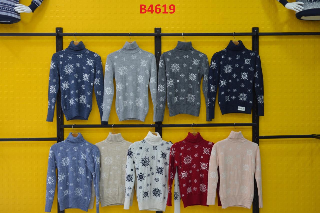 Вязаные женские шерстяные свитера новогодние оптом и в розницу G 4619