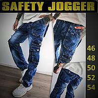 Молодежные мужские джинсы с карманами, карго, джоггеры. Брюки рабочие, штаны джинсовые.