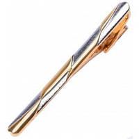 Затиск для краватки фірмовий, золото і срібло, унісекс, Dublon
