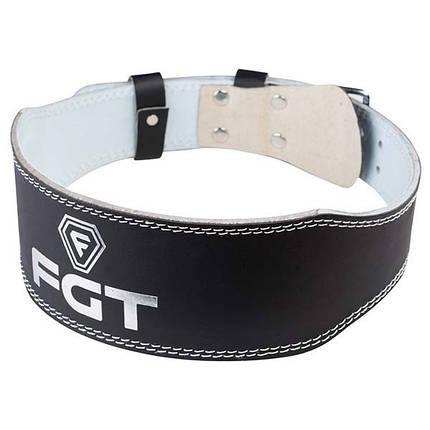 Атлетичний Пояс вузький чорний FGT, PU, розмір XL, фото 2