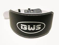 Атлетичний Пояс широкий чорний BWS, PU, розмір XL, фото 3