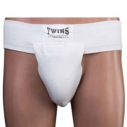 Захист пахова чоловіча біла Twins, розмір S, фото 2