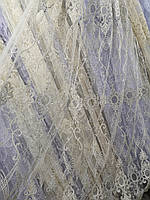 Тюль айвори с коричневым корд Турция, фото 1