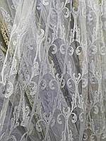 Тюль белый корд Турция, фото 1