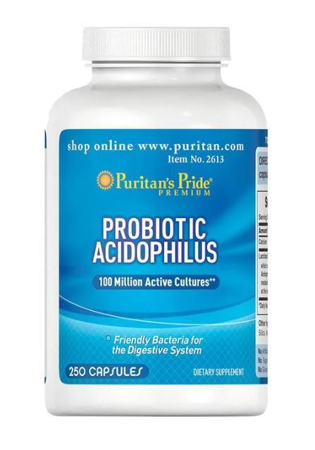 Поддержка здорового кишечника PROBIOTIC ACIDOPHILUS 250 капсул