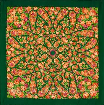 Русский сувенир 394-10, павлопосадский платок из уплотненной шерсти без бахромы